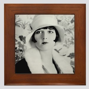 louise brooks silent movie star Framed Tile